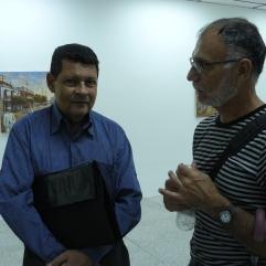 Jesús Ángel Parra en compañía de un invitado