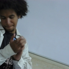 El poeta Andrés Monsalves en la FEDA