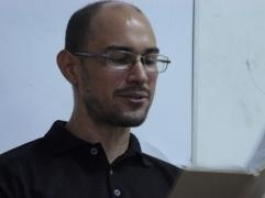 El poetas Edgar A Sanchez P en la FEDA