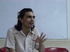 El poeta José MIguyel Navas en la FEDA