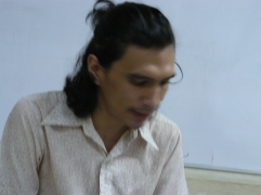El poeta José Miguel Navas en la FEDA