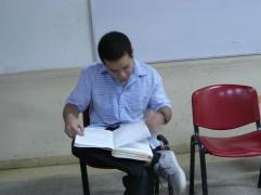 El poeta Giulio Isea en la FEDA