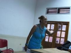 La poeta Adelfa Geovanny en la FEDA