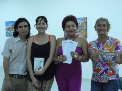 Jose Miguel Navas, Keyla Guerrero, Paola Villalobos y Adelfa Geovanny