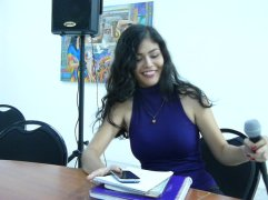 Paola Valencia en la Lectura de Nuevas Voces