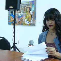 Reinibeth Gabriela Barrios Hoyos en la Lectura de Nuevas Voces