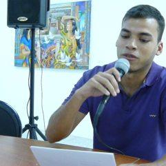 Simón Rodriguez en la Lectura de Nuevas Voces