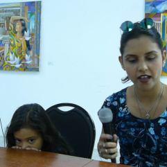 Natali Duarte en la Lectura de Nuevas Voces