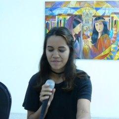 Elizabeth Avila en la Lectura de Nuevas Voces